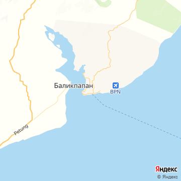 Карта Баликпапана