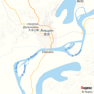 Карта Аньцина