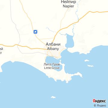 Карта Олбани