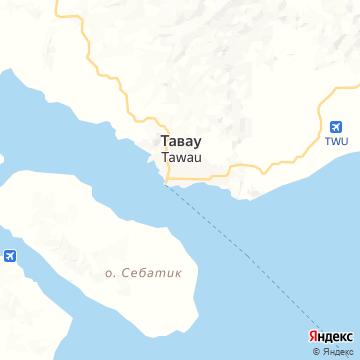 Карта Тавау