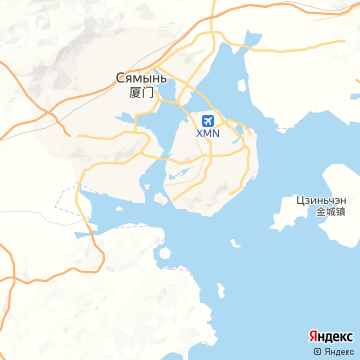 Карта Сямэнь