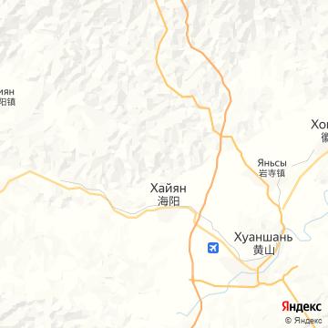 Карта Лучжоу