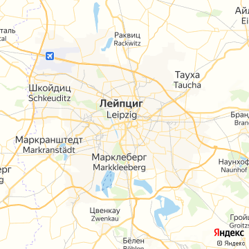 Карта Лейпцига