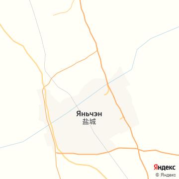 Карта Яньчэн