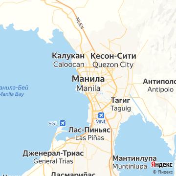 Карта Манилы