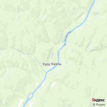 Карта Куду-Кюеля