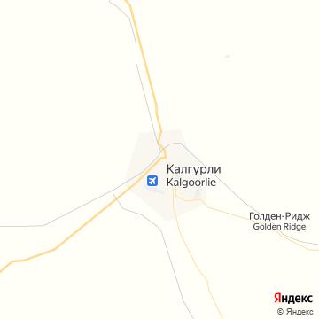Карта Калгурли