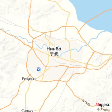 Карта Нинбо