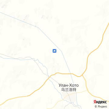 Карта Уланьхота