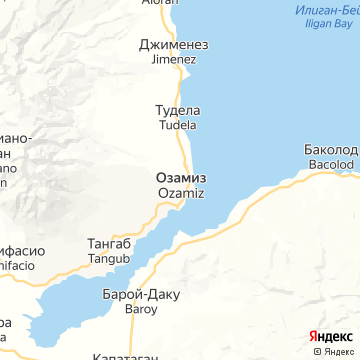 Карта Озамиса-Сити