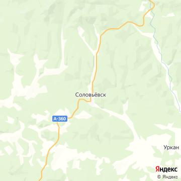 Карта Соловьевска