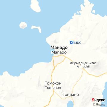 Карта Манадо