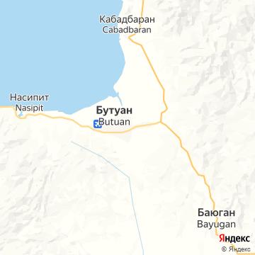 Карта Бутуана