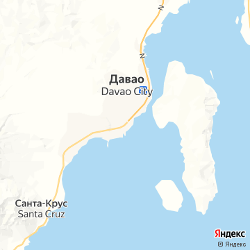 Карта Давао