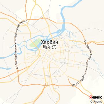 Карта Харбина