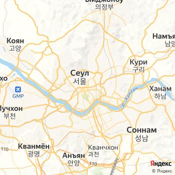 Карта Сеула