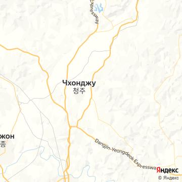 Карта Чеонджу