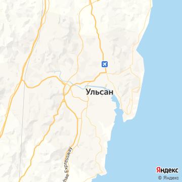 Карта Ульсана