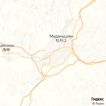 Карта Муданьцзяна