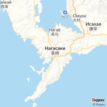 Карта Нагасаки