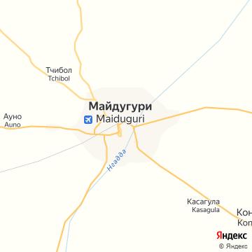 Карта Майдугури