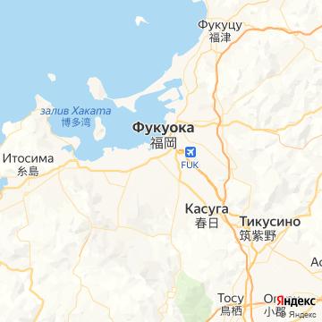 Карта Фукуоки