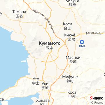 Карта Кумамото