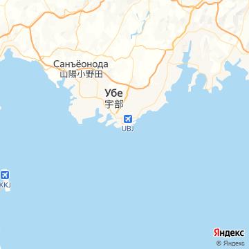Карта Убе Япония