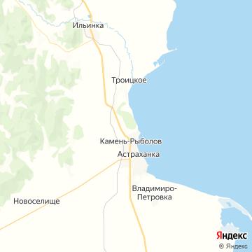 Карта Кamень-Рыболова
