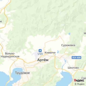 Карта Артема