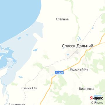 Карта Спасска-Дальнего