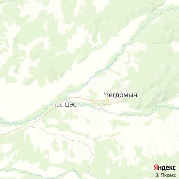 Карта Чегдомына
