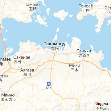 Карта Такамацу