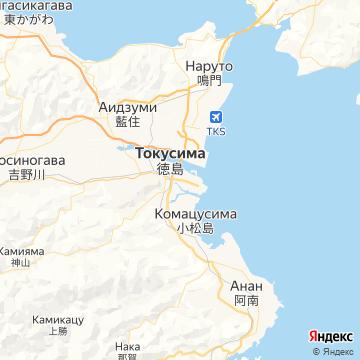 Карта Токусимы