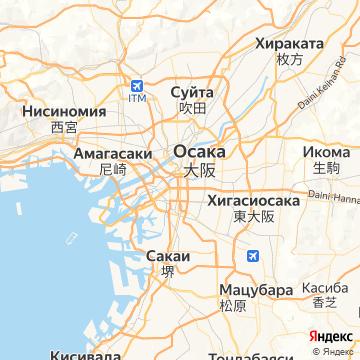 Карта Осаки