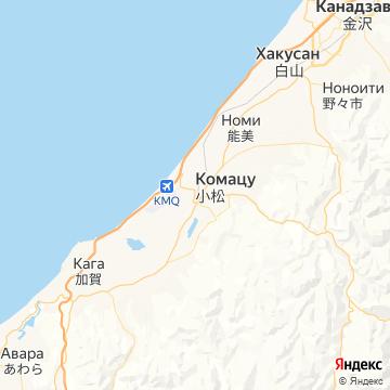 Карта Комацу