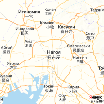 Карта Нагои