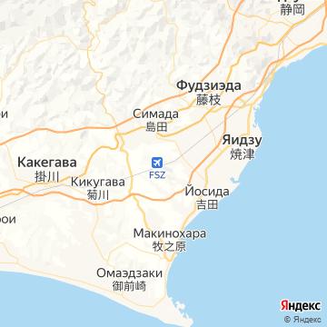 Карта Сидзуоки