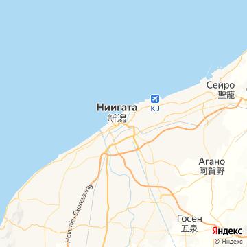 Карта Ниигаты