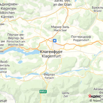 Карта Клагенфурта