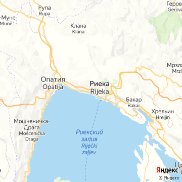 Карта Риеки