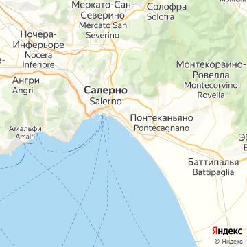 Карта Салерно