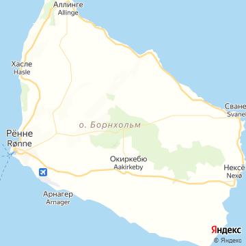 Карта Борнхольма