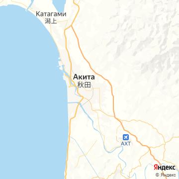 Карта Акиты