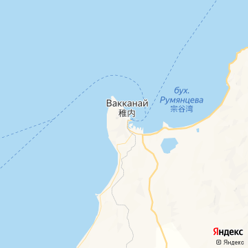Карта Вакканай