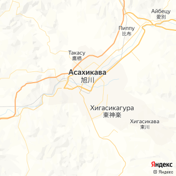 Карта Асахикавов