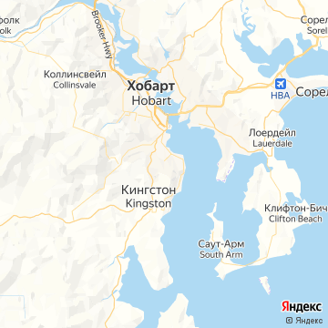 Карта Хобарта