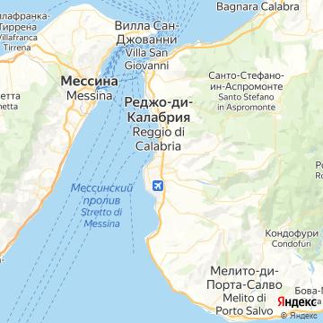 Карта Реджо-ди-Калабрии