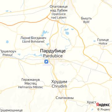 Карта Пардубице