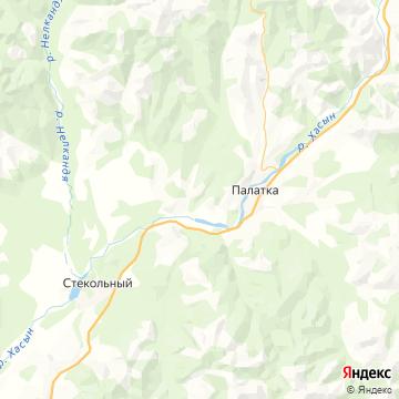Карта Палатки